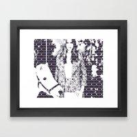 Cara and her Horse Framed Art Print