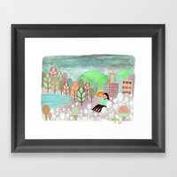 Vancouver Grey Framed Art Print