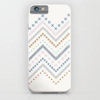 Mixed Zig Zag - in Cobalt iPhone 6 Slim Case