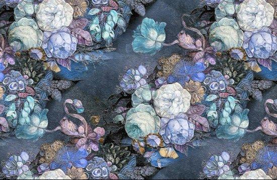 Vintage Blue Jeans Bouquet Canvas Print