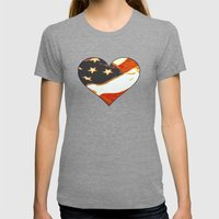 Happy Birthday America Womens Fitted Tee Tri-Grey SMALL