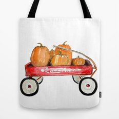 Red wagon watercolor  Tote Bag
