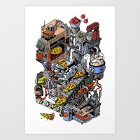 Pizza Machine Art Print