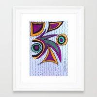 Frazzle Framed Art Print
