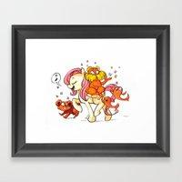 PONY SEUSS- Fluttershy  Framed Art Print