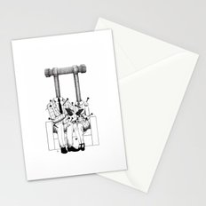 Love (one hand to caress and the other one to hurt) Stationery Cards