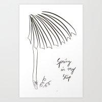 Spring In My Step Art Print