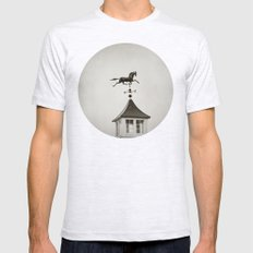Horse Weathervane Mens Fitted Tee Ash Grey SMALL