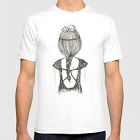 Cat Girl Mens Fitted Tee White SMALL