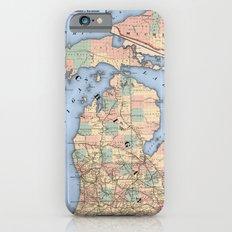 Michigan Railroad Map Slim Case iPhone 6s