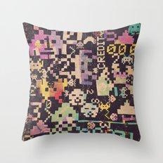 Galactic Pixel War Throw Pillow