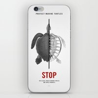 Protect Marine Turtles iPhone & iPod Skin