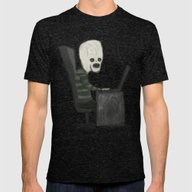 MISTER CALVA Mens Fitted Tee Tri-Black SMALL