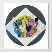 Rhino And RhInO Canvas Print