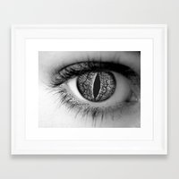 Look Deep Framed Art Print