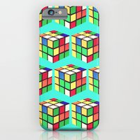 iPhone Cases featuring Do You Even Cube, Bro?  |  Rubik's by Silvio Ledbetter