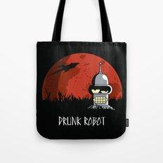 Drunk Robot Tote Bag