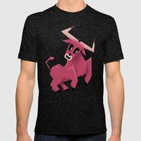 Taurus! Mens Fitted Tee Tri-Black SMALL