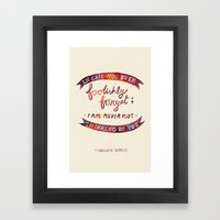 Just In Case You Ever Fo… Framed Art Print
