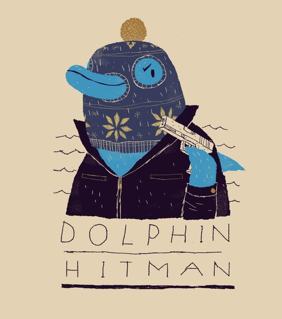 dolphin hitman. Art Print