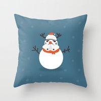 Day 16/25 Advent - Snow Trooper Throw Pillow