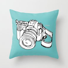 Click! Throw Pillow