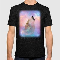 Dream By Day (Wolf Dreams - Remix Series) Mens Fitted Tee Tri-Black SMALL