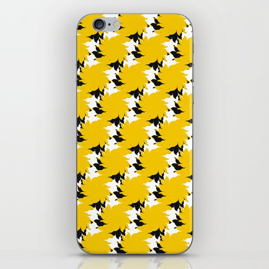 Abstract Pattern - Yellow & BW iPhone & iPod Skin