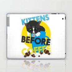 Kittens Before Coffee Laptop & iPad Skin