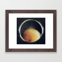 View From A Black Hole Framed Art Print