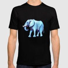 Elefante Blu SMALL Black Mens Fitted Tee
