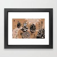 Flying Islands Framed Art Print
