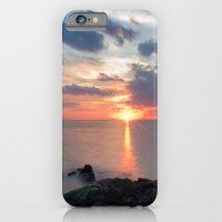 iPhone & iPod Case featuring Sandy Hook Sunset by Ekaterina La