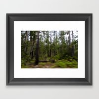 Motion Blurred Forest Framed Art Print