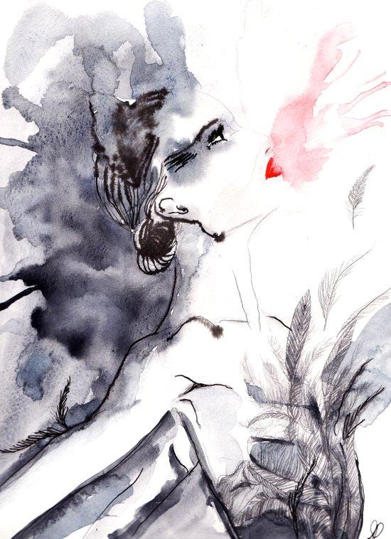 Black Swan Canvas Print