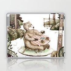 Mr.Brown is having breakfast Laptop & iPad Skin