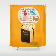 Marcos 12:30 Shower Curtain