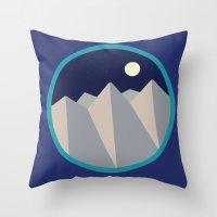 Day Mountain, Night Moun… Throw Pillow