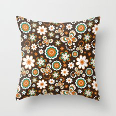 Autumn Hippie Throw Pillow