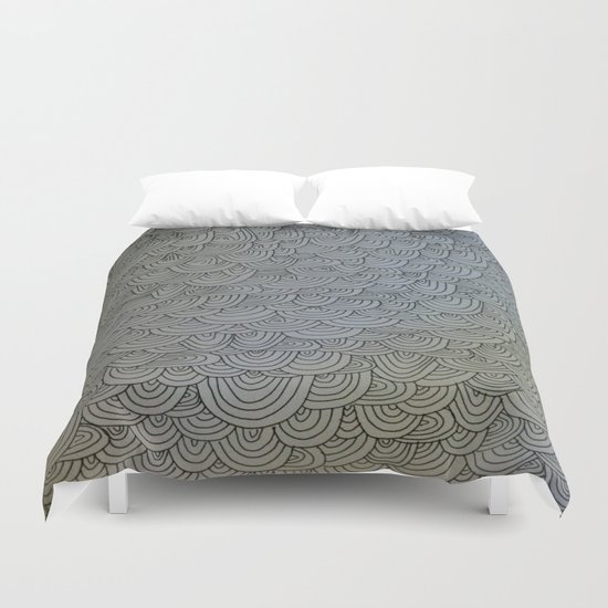Sea of Lines Duvet Cover
