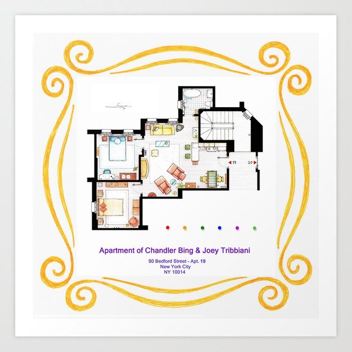 Apartment Of Chandler And Joey From FRIENDS Art Print By