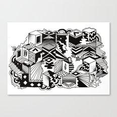 Cube-ular Canvas Print