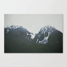 Vintage Snowy Mountain Canvas Print
