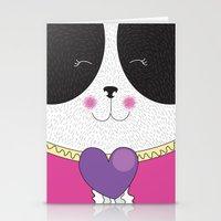 Lovely Panda Girlfriend! - cute, funny, sweet, panda bear! Stationery Cards