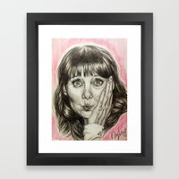 Asha Cuthbert    By Davy… Framed Art Print