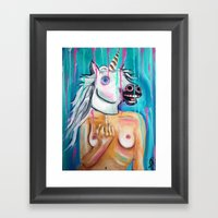 Because I'm a unicorn, that's why Framed Art Print
