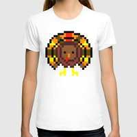 Turkey Bytes Womens Fitted Tee White SMALL
