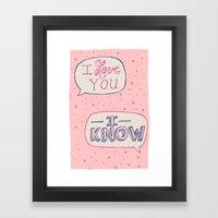 Conceited Valentine Framed Art Print
