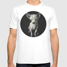 Chihuahua dog  SMALL White Mens Fitted Tee