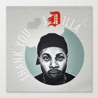 Thank You, J Dilla Canvas Print